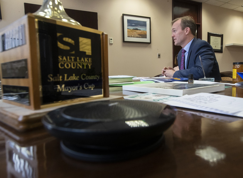Congressman-elect Ben McAdams talks about his hopes and expectations as he prepares for his move to Washington, D.C., during an interview at the Salt Lake County complex on Monday, Dec. 17, 2018.