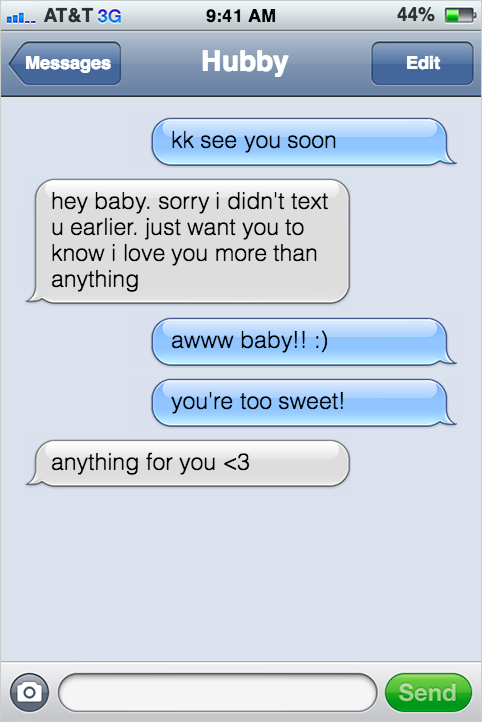 Intimate sexting examples