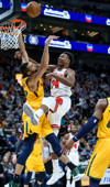 f6d42cc1e Utah Jazz guard Donovan Mitchell (45) is covered by Chicago Bulls guard  Kris Dunn (32) during the game at Vivint Smart Home Arena in Salt Lake City  on ...