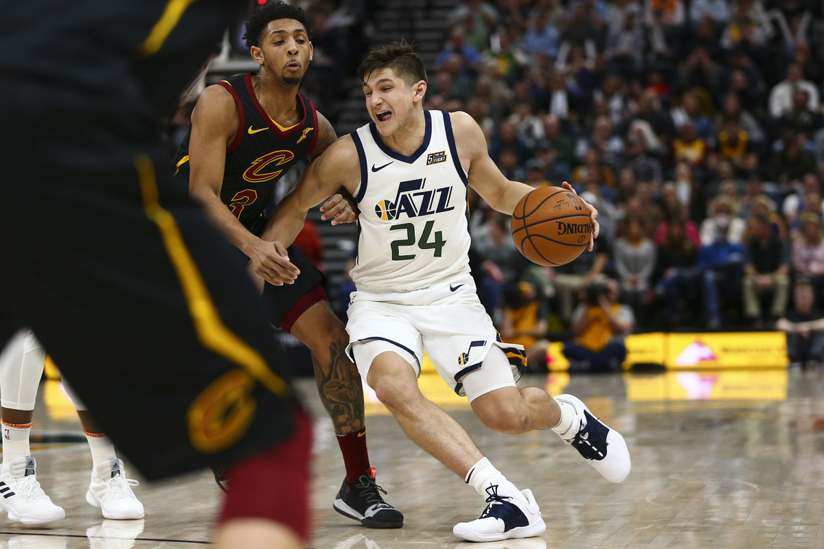 4eee66bb361 Duke's Mike Krzyzewski still texts Jazz's Grayson Allen with encouragement  throughout rookie season