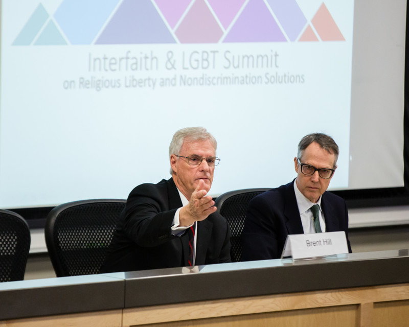 Idaho Senate President Pro Tem Brent Hill, R-Rexburg, speaks during the Interfaith & LGBT Summit on Religious Liberty and Nondiscrimination Solutions at Concordia University School of Law in Boise, Idaho, on Friday, Feb 22, 2019.