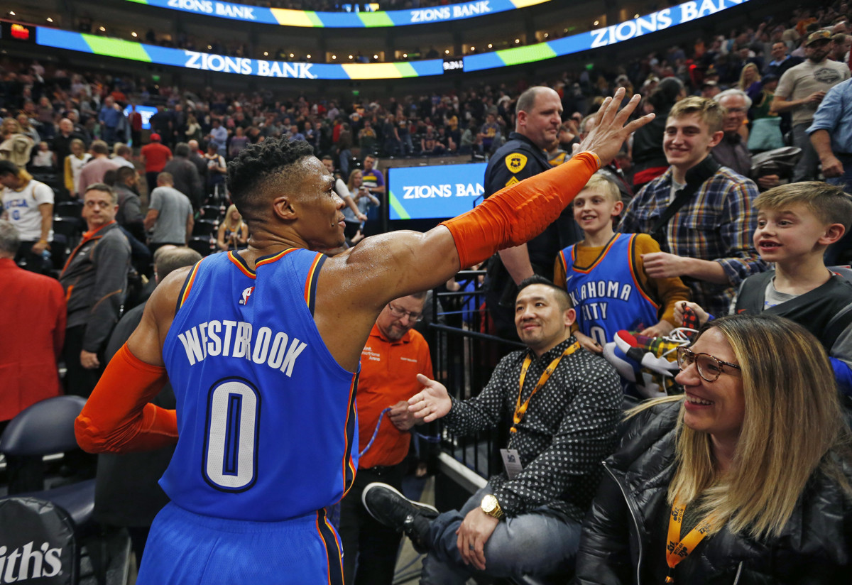 ab05490af6cd Jazz forward Thabo Sefolosha  100%  supports Russell Westbrook in wake of  verbal altercation with Utah fan