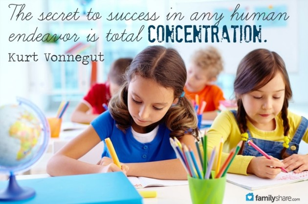 how to help child to concentrate in school