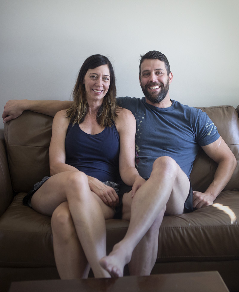 Adrienne and Roger Shulze pose for a portrait in their home in Riverton on Saturday, May 26, 2018. The couple are neighbors of Josh Holt, who was released from Venezuelan prison after two years of captivity.