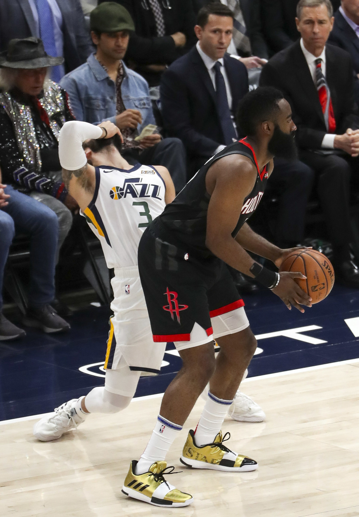 690ccbe48b62 Morning links  Are James Harden s step-back 3-pointers travels   Donovan  Mitchell  ignores the rules