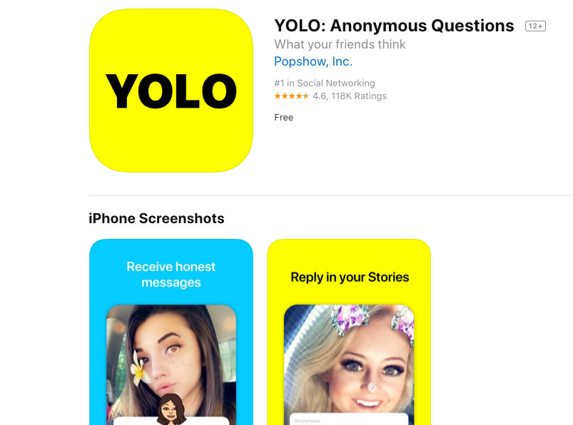 How do you get the yolo app on snapchat