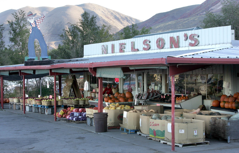 Nielson's fruit stand in Willard, Utah.