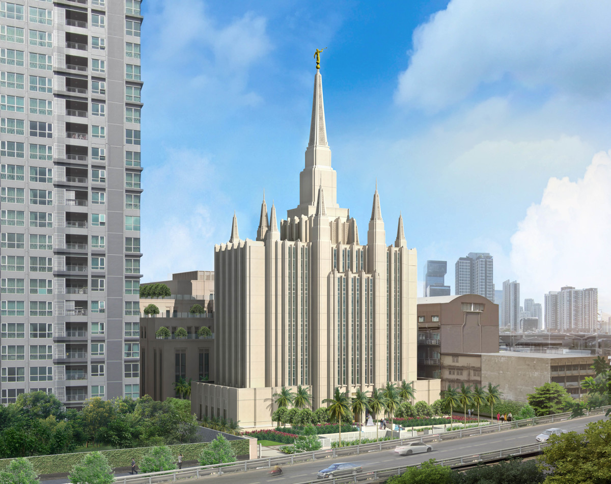 lds church releases artistic rendering of the bangkok thailand