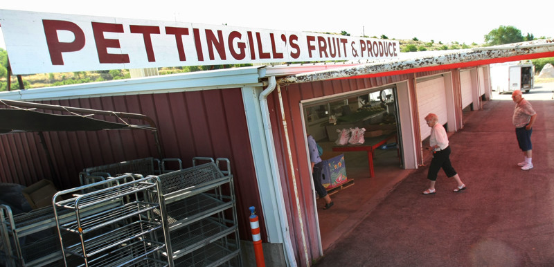 Pettingill's Fruit & Produce stand in Willard, Utah.