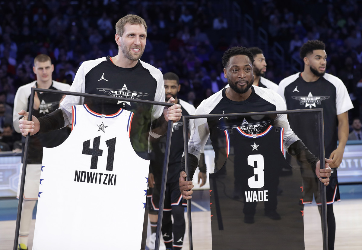 cae1be5e59fe Dwyane Wade receives assist from Utah company at NBA All-Star send-off  party in Charlotte
