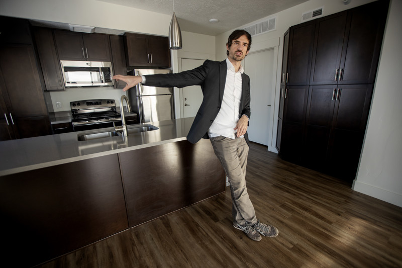 Project Open owner/developer Chris Parker talks about the project as he shows off his apartment that he is moving out of on Monday, Dec. 31, 2018.
