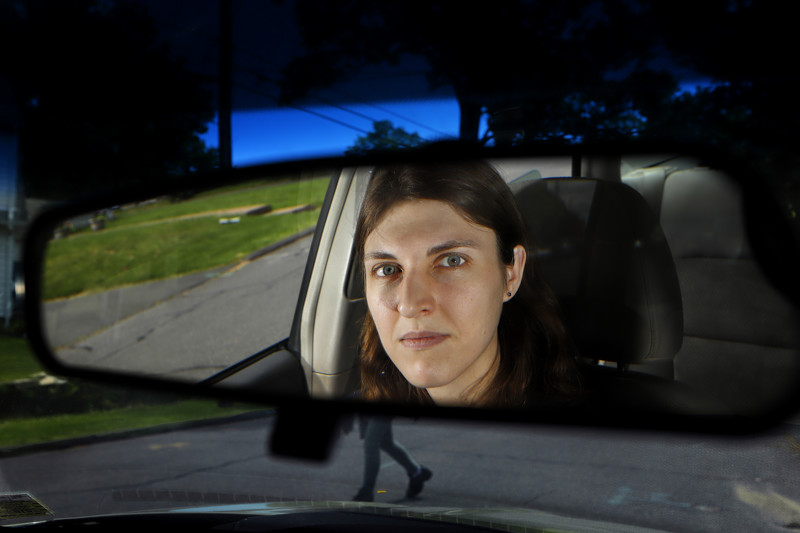 Elise Tanner, 25, photographed in Manchester, Conn., Friday, May 24, 2019, recently left her job at the University of Utah where she worked as a research associate for the Center for Driving Safety and Technology in the psychology department. While there she worked with a study about the use of semi-autonomous cars and became concerned with the way the study was being conducted. She and a colleague brought the matter to the Institutional Review Board. Tanner has since left her job and moved out of state.