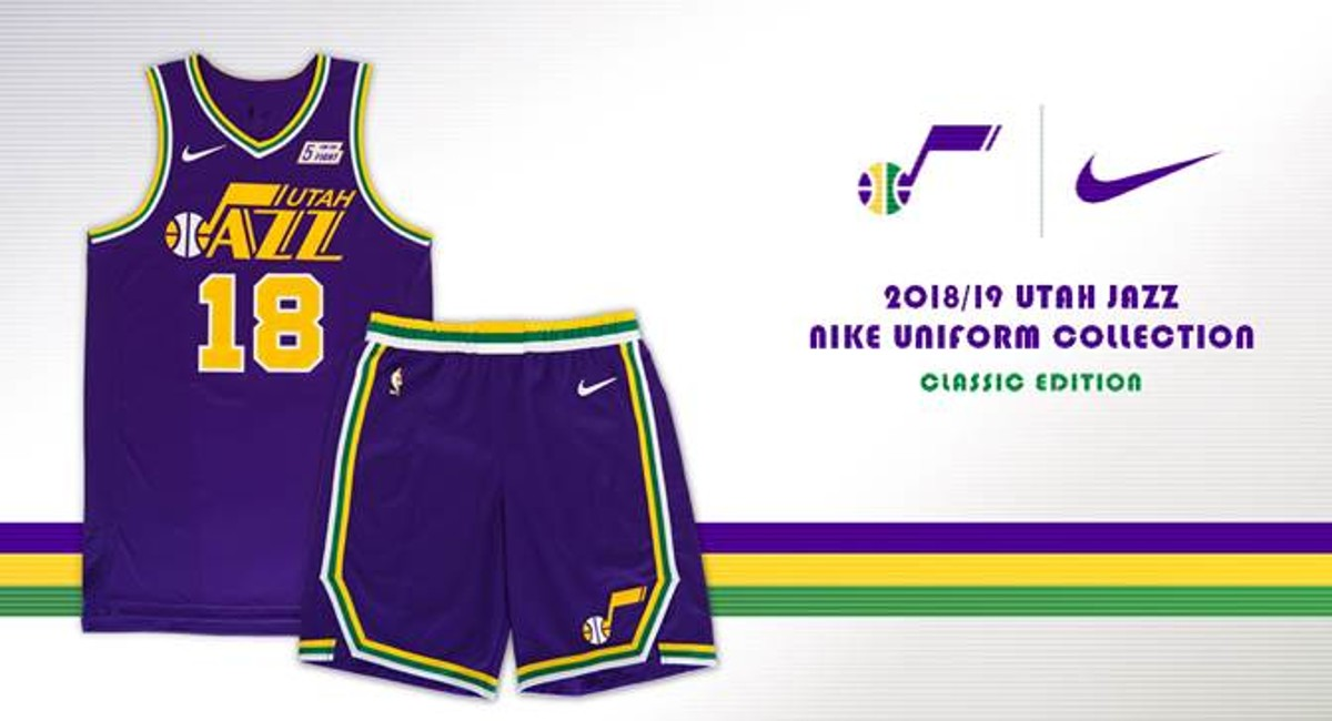 89c44b0429a Utah Jazz purple throwback jerseys to celebrate 40-year franchise  anniversary in Salt Lake City