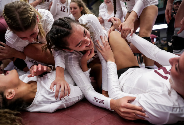 Hard work and friendship helps Lone Peak to volleyball 3-peat in dominant 6A championship performance