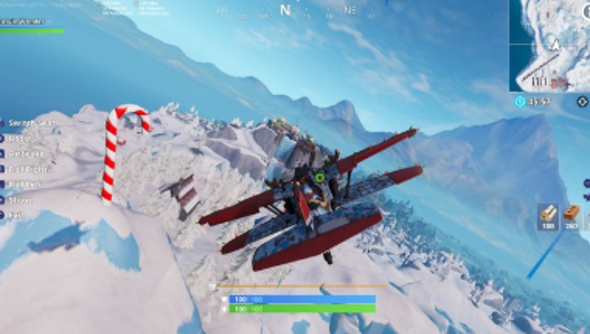 14 days of fortnite day five where to find the golden rings for the flying challenge - where is the plane in fortnite