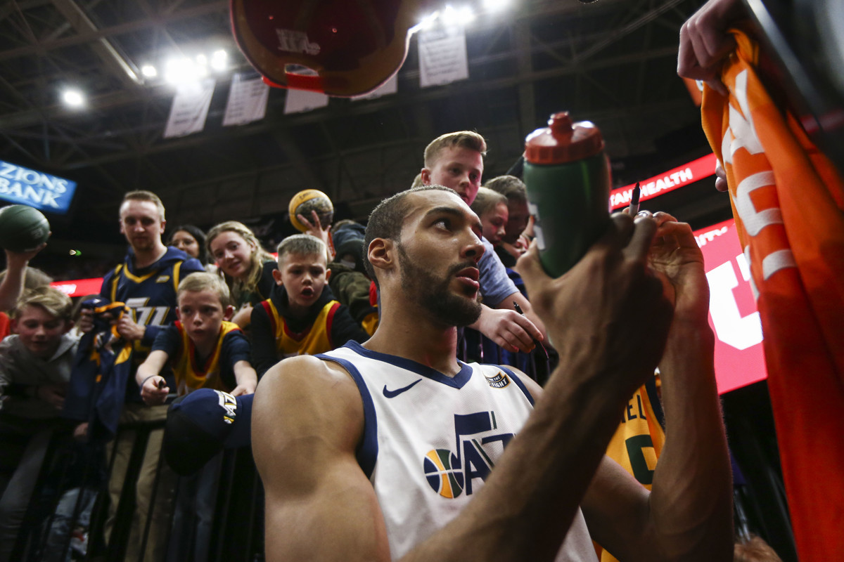 19234e137 Utah Jazz center Rudy Gobert named Western Conference Player of the Week  for first time of career