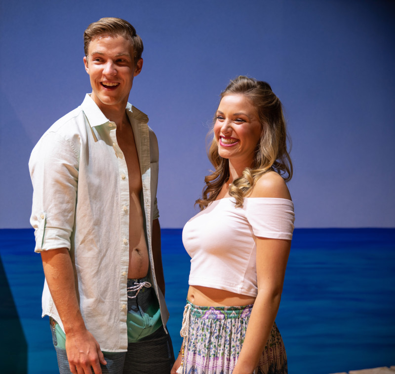 Aidan Wharton as Sky, left, and Kathryn Brunner as Sophie in Pioneer Theatre Company's