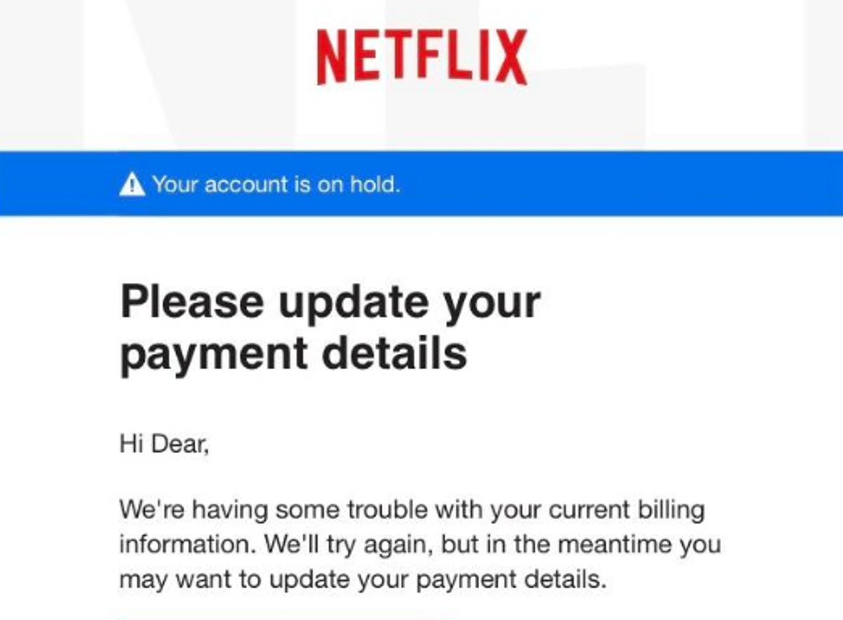 There's a new Netflix lookalike scam hitting your email inbox