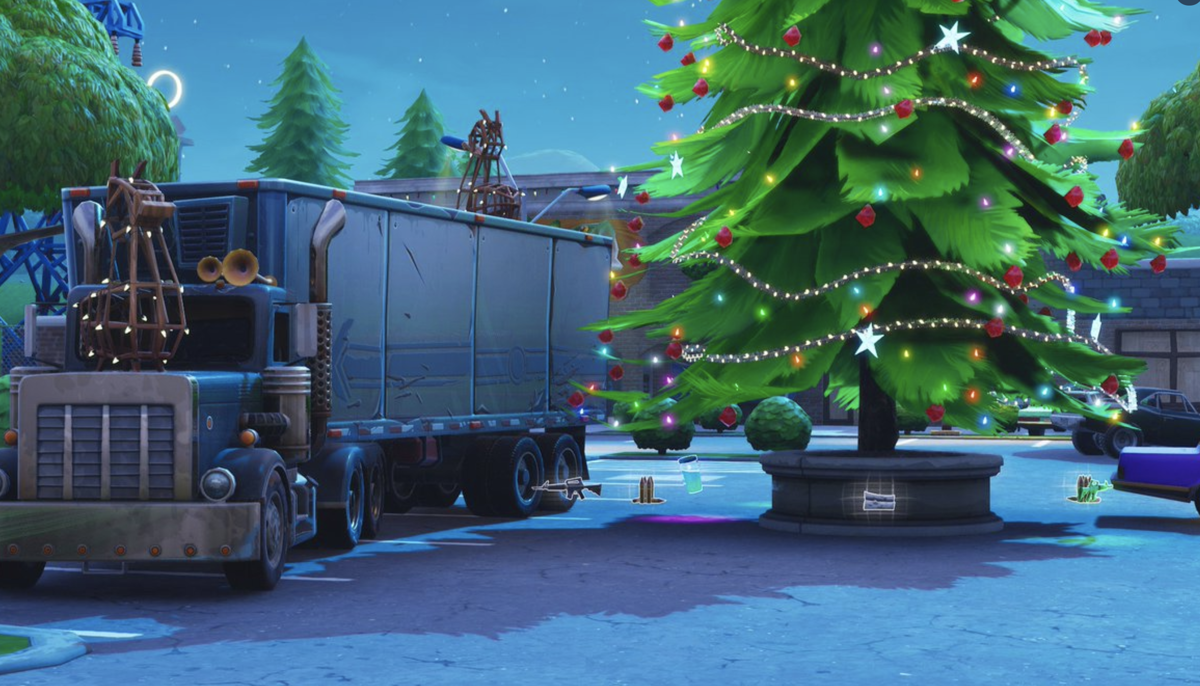 14 days of fortnite day nine where to find all christmas tree dance locations - all green dances fortnite