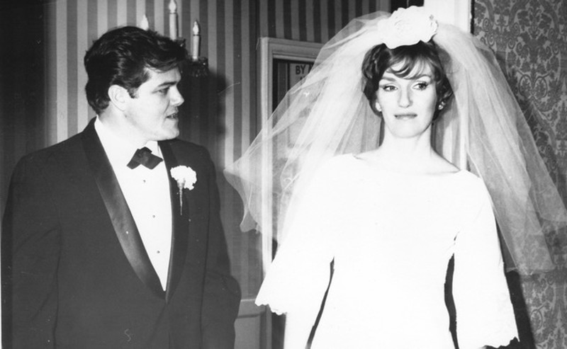Ben Bryant and Elizabeth Hepburn on their first wedding day. The couple later divorced, figured things out and remarried.