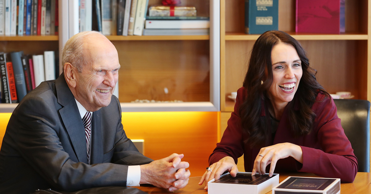 President Nelson meets New Zealand Prime Minister Jacinda Ardern, says church will donate to mosques
