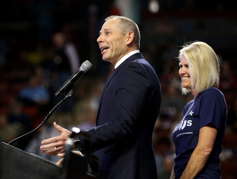 FILE - Rep. John Curtis, who is running for re-election for the third congressional district, speaks during the Utah Republican Party state convention at the Maverik Center in West Valley City on Saturday, April 21, 2018.