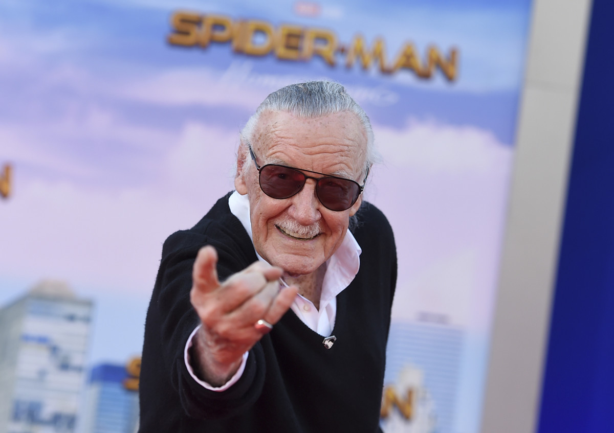 Image result for stan lee spiderman homecoming premiere