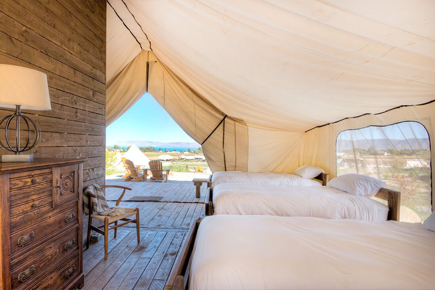 Grand Tents are ideal for couples and families who want premium luxury. Each features an en suite bathroom with shower electricity Western-style ... & Conestoga Ranch | Utah.com