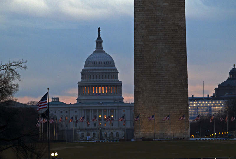 FILE - The U.S. Capitol is seen early in the morning in Washington, Tuesday, Jan. 1, 2019, as a partial government shutdown stretches into its third week.