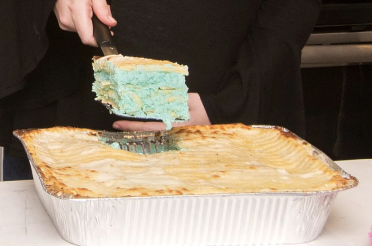 Gender Reveal Lasagna Is Really A Thing At Villa Italian Kitchen