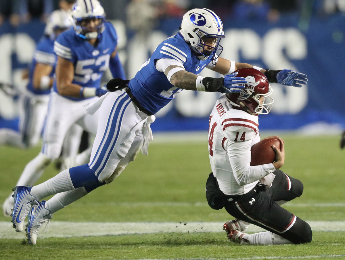 910873a7d BYU linebacker Sione Takitaki selected by Cleveland Browns in third round  of 2019 NFL draft