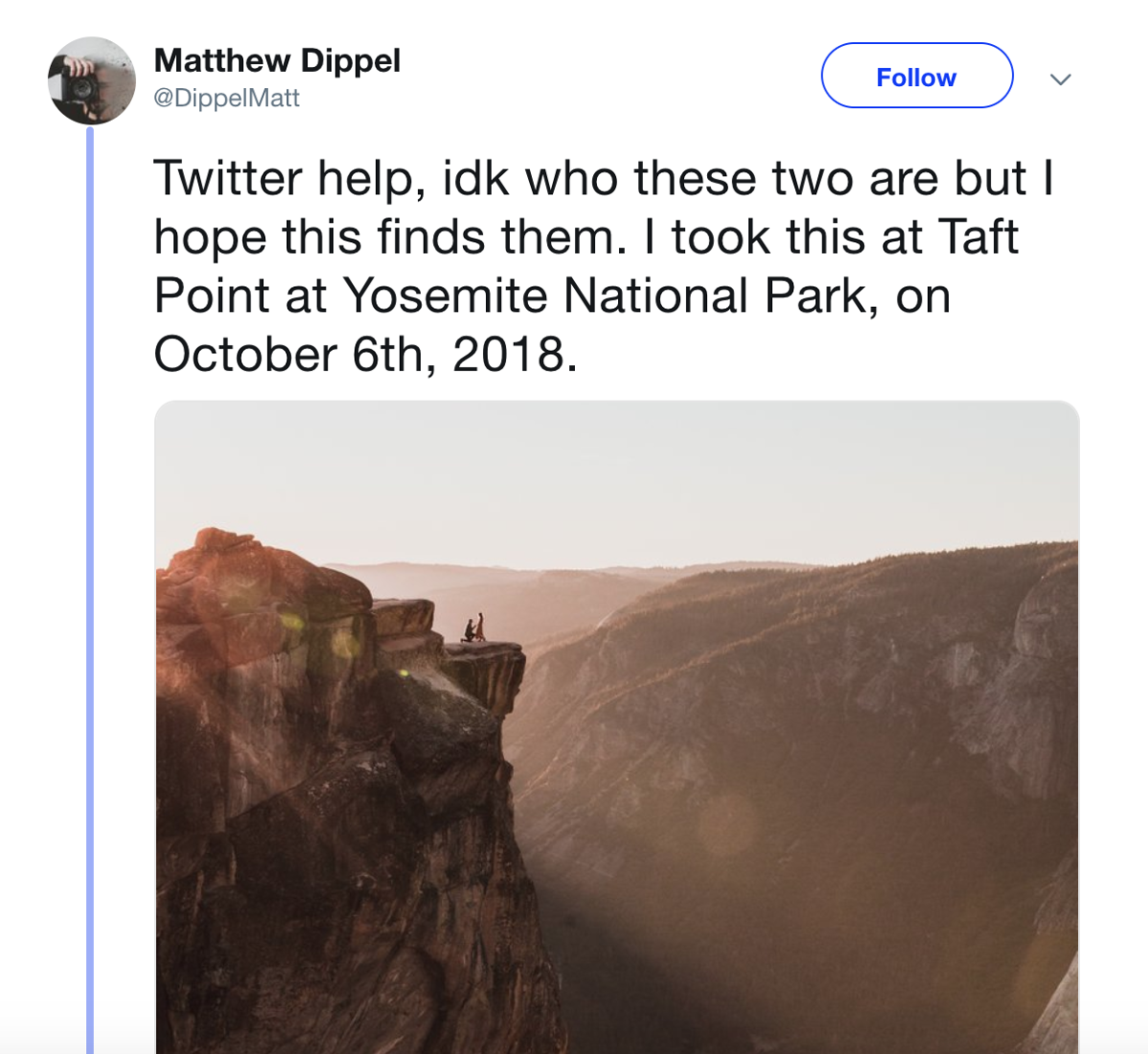 Photographer seeks help finding the mystery couple in his Yosemite ...
